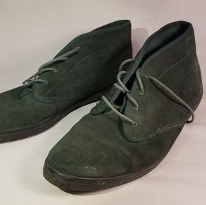 Vintage Forest Green Suede Keds Booties 80s